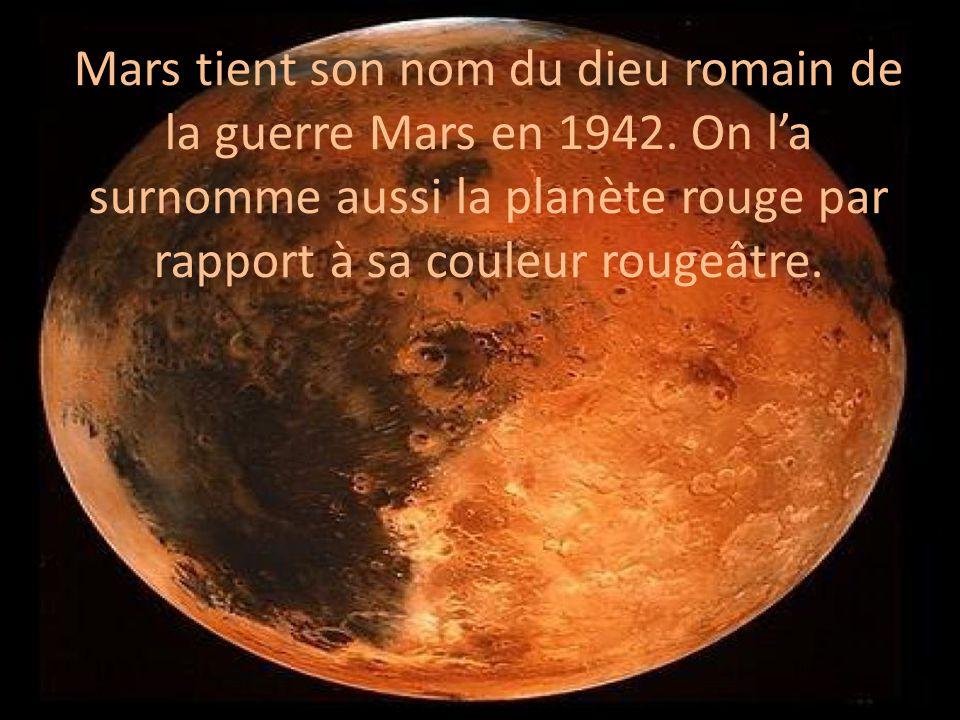 Mars tient son nom du dieu romain de la guerre Mars en 1942.