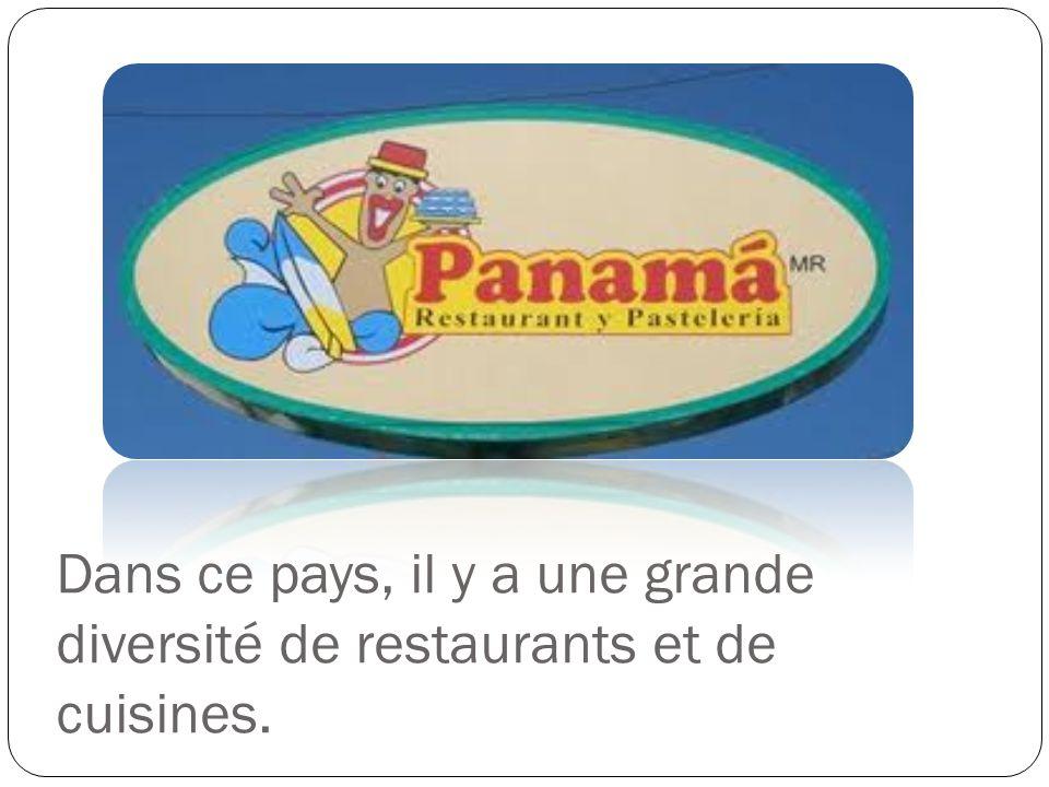 Dans ce pays, il y a une grande diversité de restaurants et de cuisines.