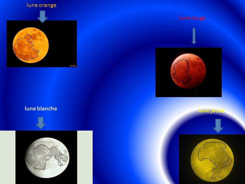 lune blanche lune rouge lune jaune lune orange