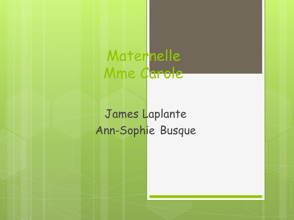 1re année Mme Alexandra Alexis Busque Laurie Lachance (2) Cynthia Boutin
