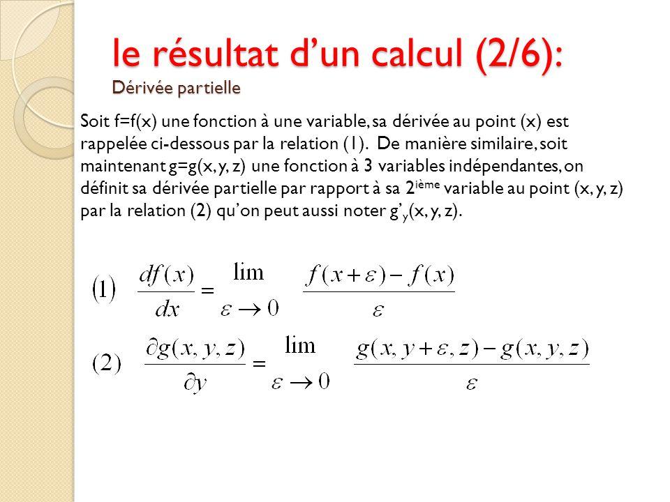Soit f=f(x) une fonction à une variable, sa dérivée au point (x) est rappelée ci-dessous par la relation (1). De manière similaire, soit maintenant g=