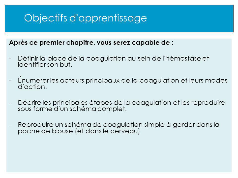 2 Les intervenants Les 12 facteurs de coagulation : conditions d activation Comment sont activés les zymogènes .