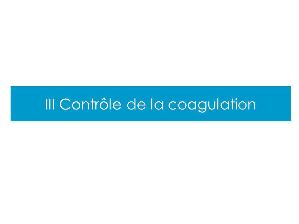 Cours PCEM2 III Contrôle de la coagulation
