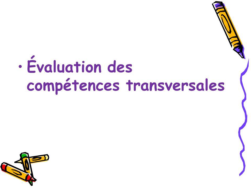 Évaluation des compétences transversales