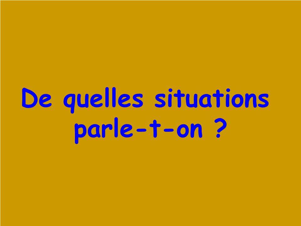 Xavier Roegiers - 20031 De quelles situations parle-t-on ?