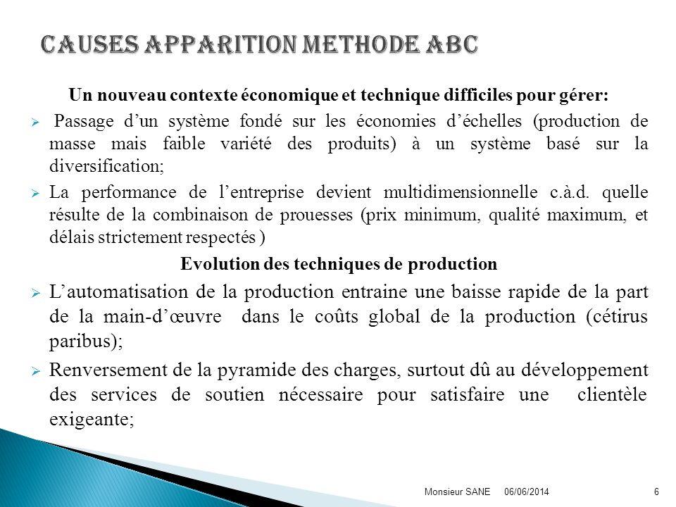 Le terme activité est le concept central de la méthode ABC.