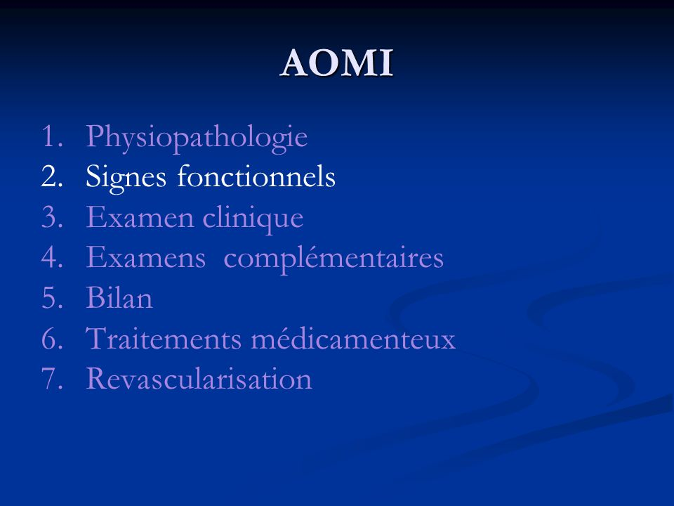 AOMI: 7.revascularisation 7.1 - Les techniques endovasculaires.