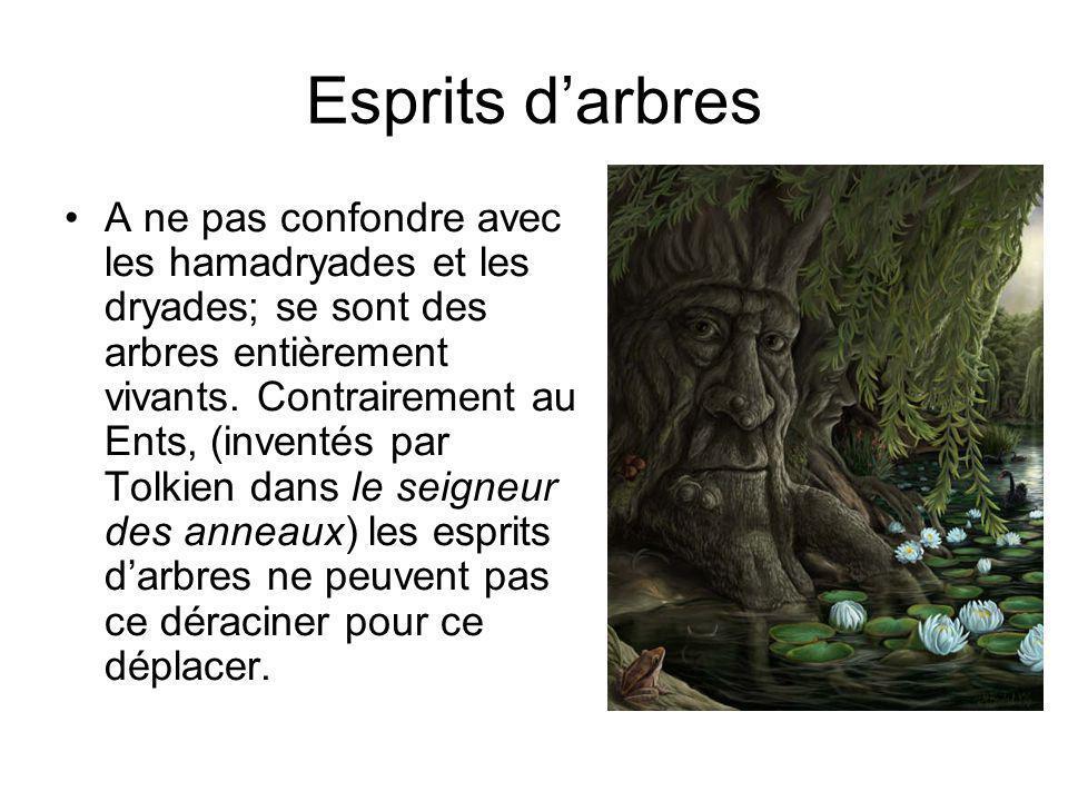 Dryades A ne pas confondre avec leur sœurs, les hamadryades, les dryades peuvent sortir de leur arbre.