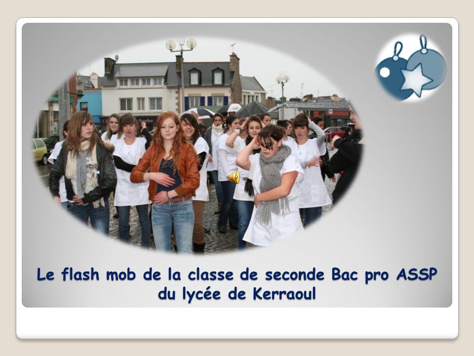Le flash mob de la classe de seconde Bac pro ASSP du lycée de Kerraoul