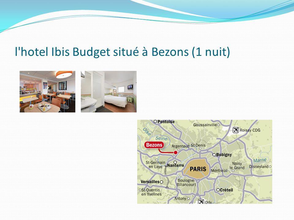 l hotel Ibis Budget situé à Bezons (1 nuit)