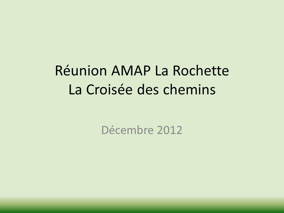 Réunion AMAP La Rochette La Croisée des chemins Décembre 2012