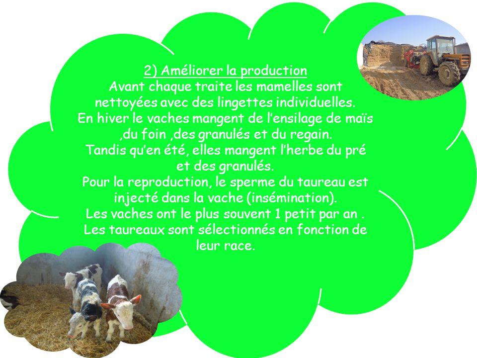 3)La ferme et lenvironnement La ferme doit être à au moins 100 mètres du village pour protéger les habitants : bruit des tracteurs qui passent la nuit et les odeurs.Le fumier doit être couvert.