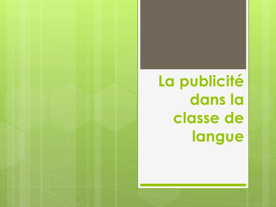 La publicité dans la classe de langue