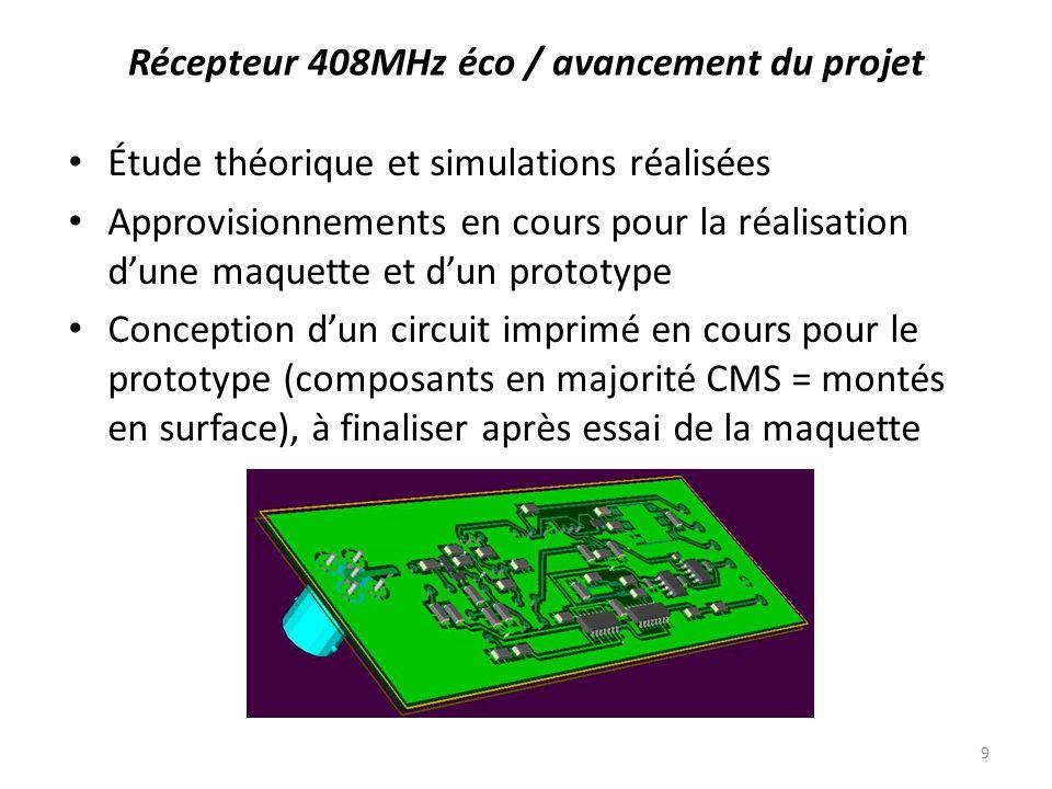 Étude théorique et simulations réalisées Approvisionnements en cours pour la réalisation dune maquette et dun prototype Conception dun circuit imprimé