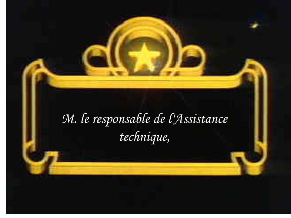 M. le responsable de l'Assistance technique,