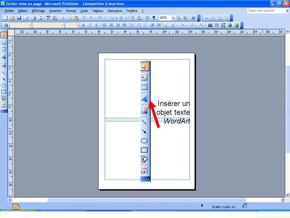 Insérer un objet texte WordArt