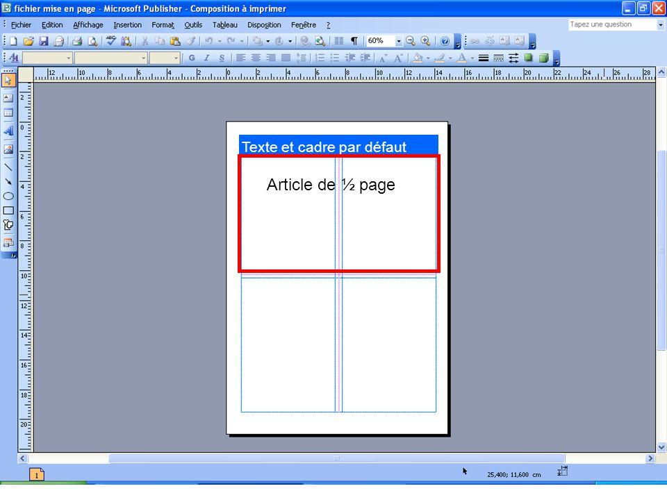 Article de ½ page
