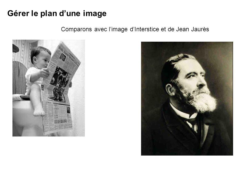 Jean Jaurès est au premier plan car cest la dernière image arrivée sur la page Gérer le plan dune image Comparons avec limage dInterstice et de Jean Jaurès