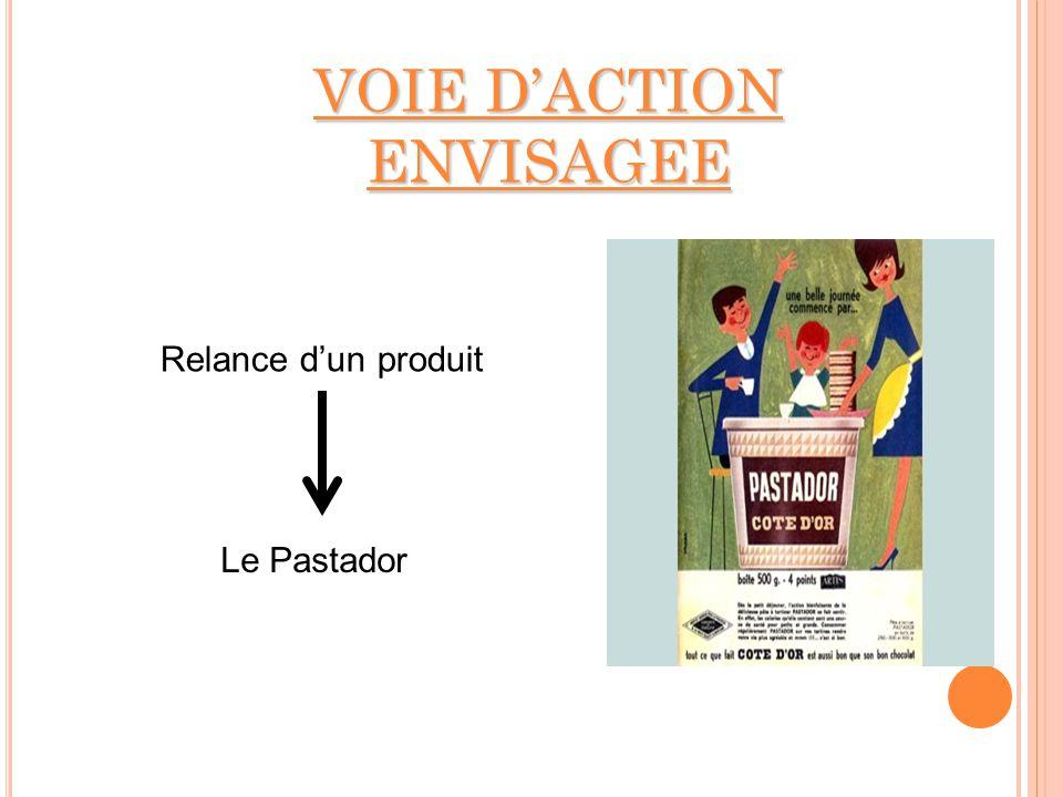 VOIE DACTION ENVISAGEE Relance dun produit Le Pastador