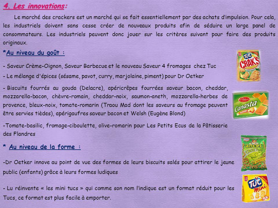 *Au niveau du goût : - Saveur Crème-Oignon, Saveur Barbecue et le nouveau Saveur 4 fromages chez Tuc - Le mélange d'épices (sésame, pavot, curry, marj