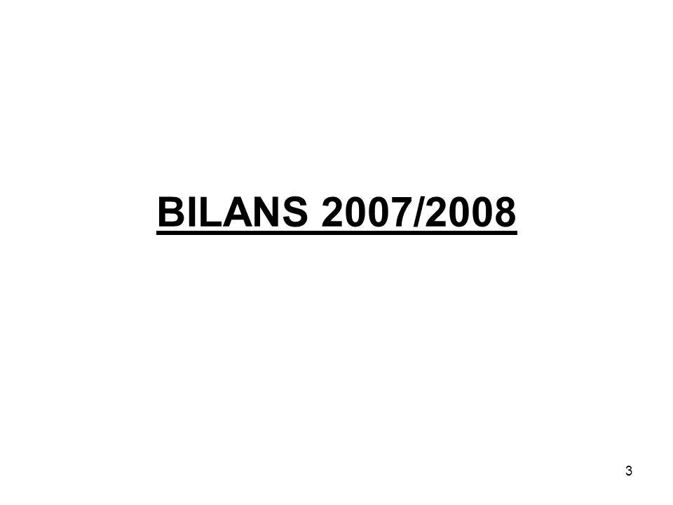 3 BILANS 2007/2008