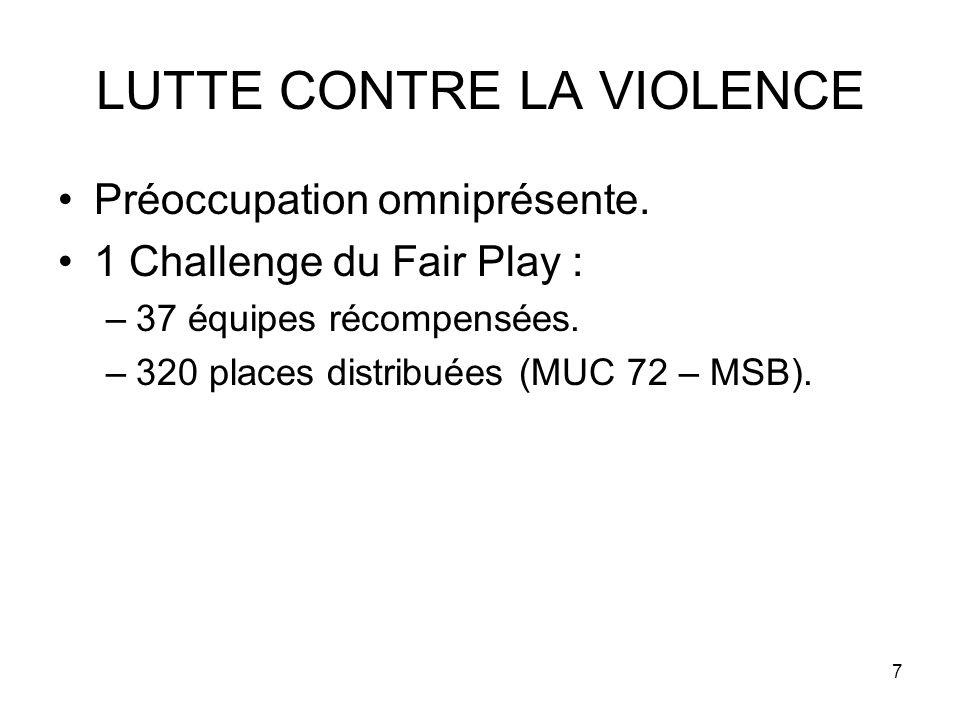 7 LUTTE CONTRE LA VIOLENCE Préoccupation omniprésente.