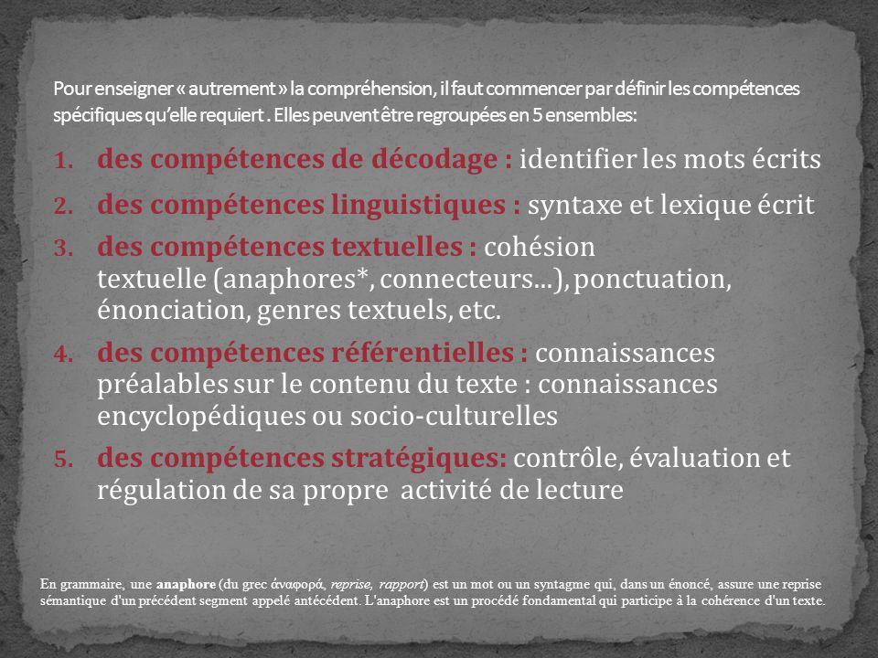 Lecture, écriture La lecture et lécriture sont systématiquement liées : elles font lobjet dexercices quotidiens, non seulement en français, mais aussi dans le cadre de tous les enseignements.