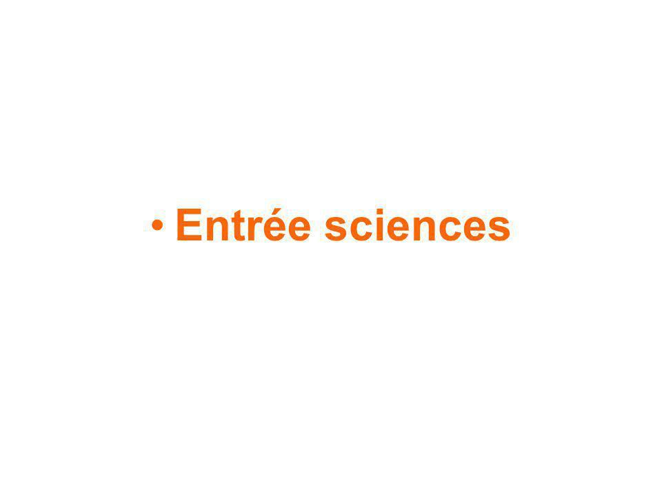 Entrée sciences