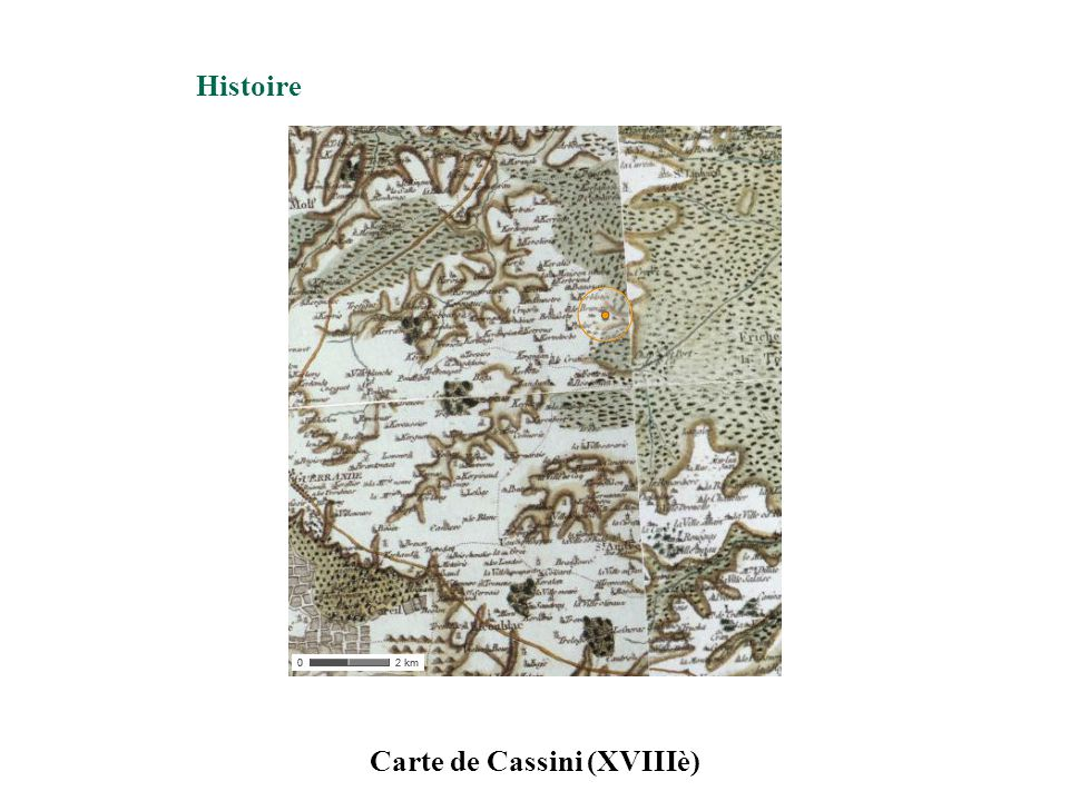 Carte de Cassini (XVIIIè) Histoire