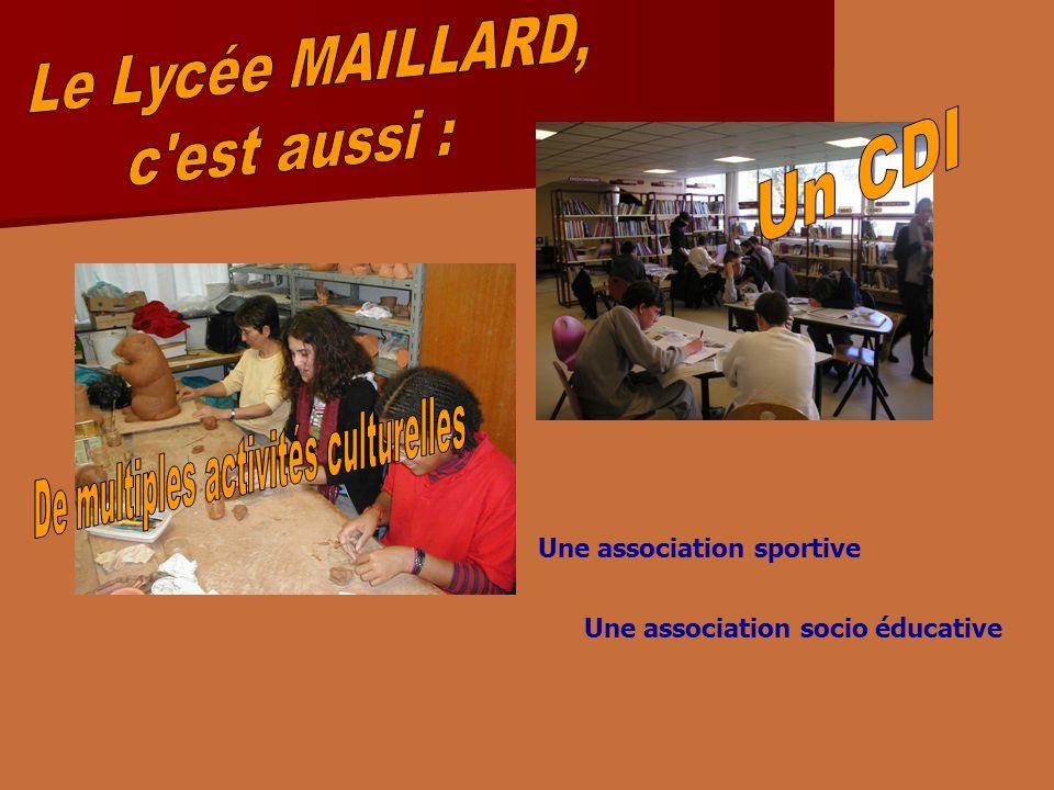 Une association sportive Une association socio éducative