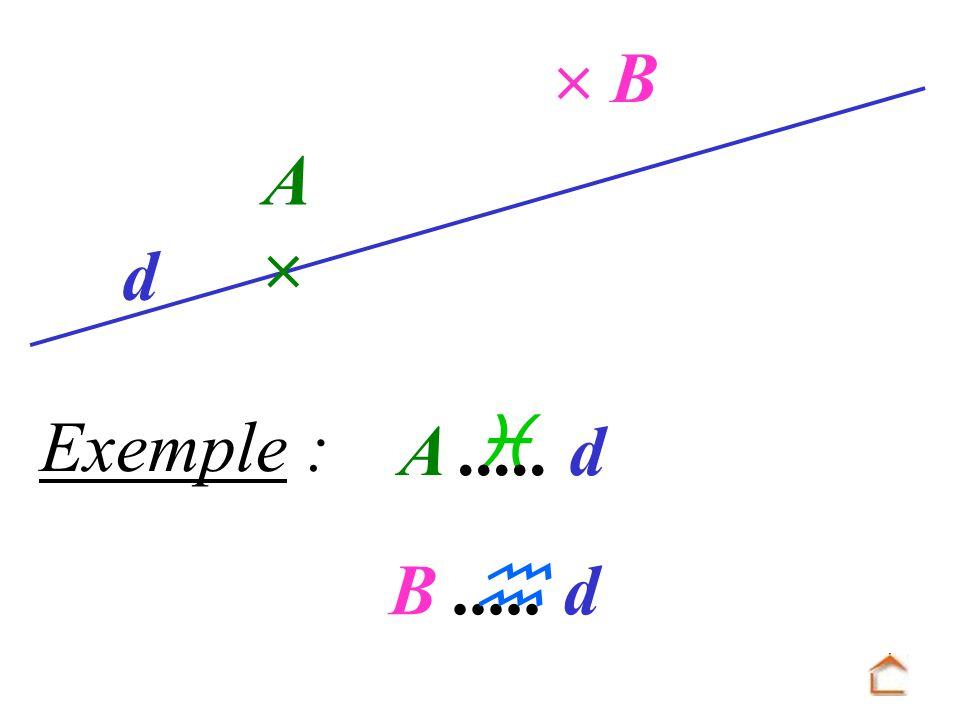 Exemple : B A d A..... d B..... d