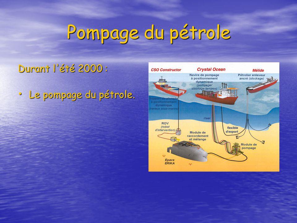 Pompage du pétrole Durant l'été 2000 : Le pompage du pétrole.