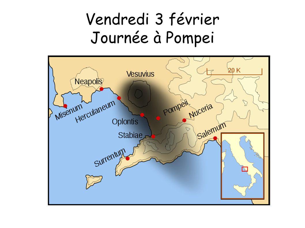 Vendredi 3 février Journée à Pompei