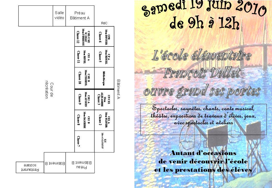 Programme Salle du restaurant scolaire 09h00 – 10h30 Anglais (sketchs et ateliers) CM2 A - Mme Auguin, avec le concours de Mme C.