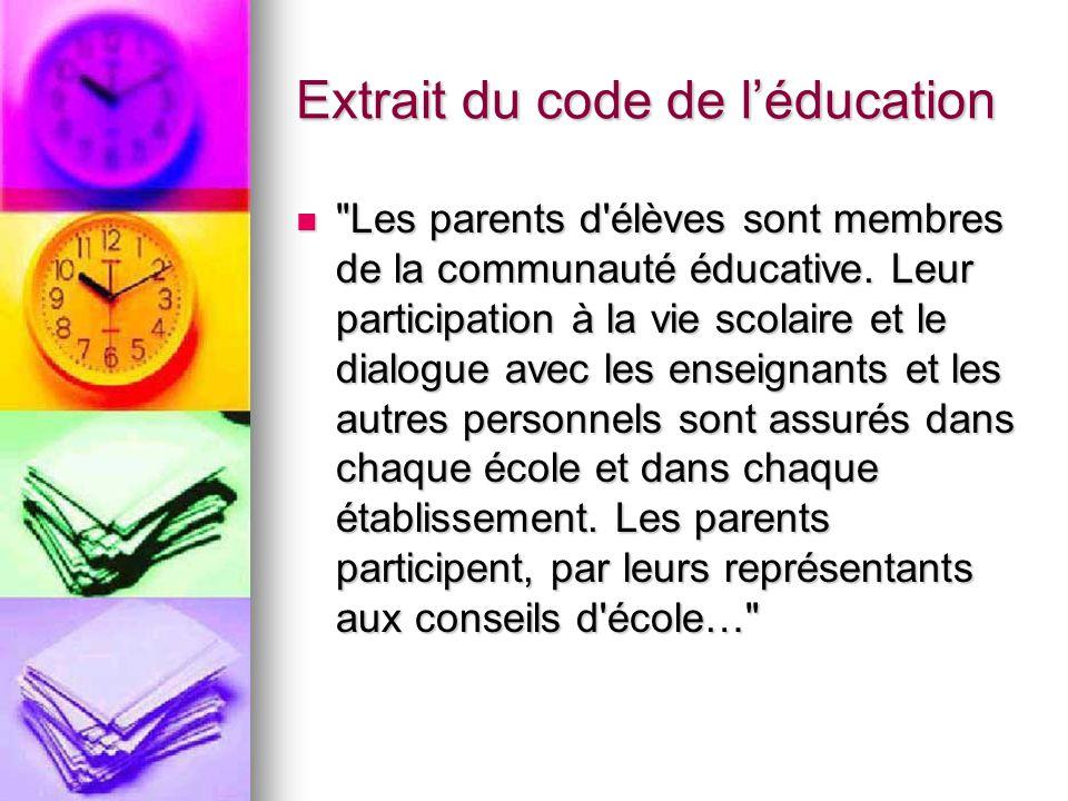 Extrait du code de léducation