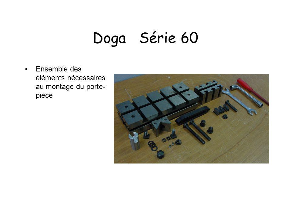 Doga Série 60 Ensemble des éléments nécessaires au montage du porte- pièce