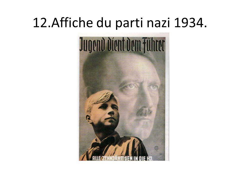 12.Affiche du parti nazi 1934.
