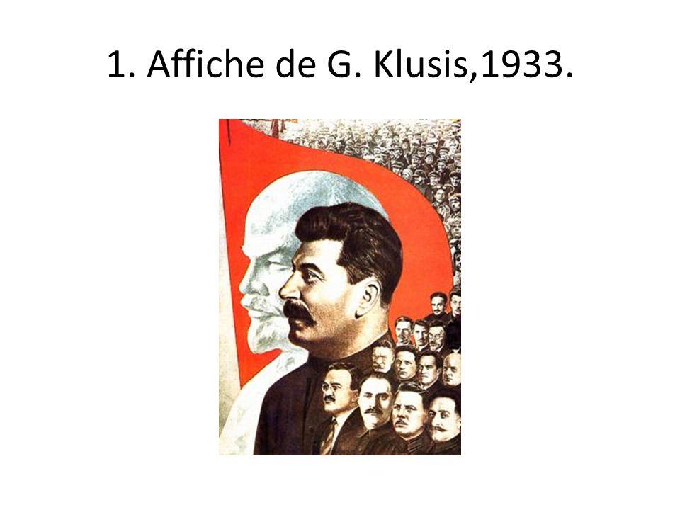 1. Affiche de G. Klusis,1933.