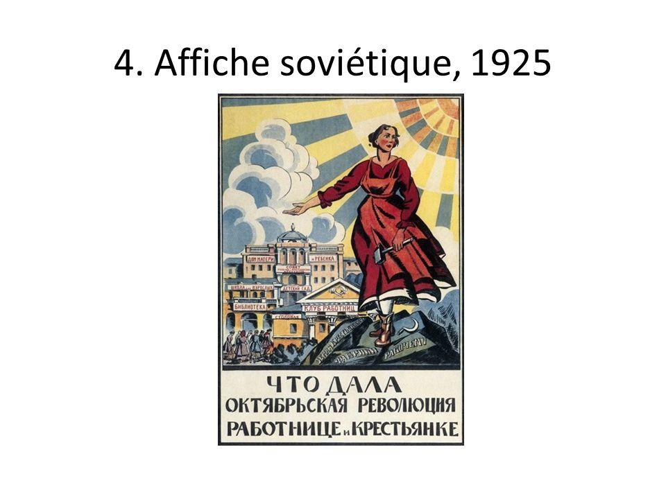 4. Affiche soviétique, 1925