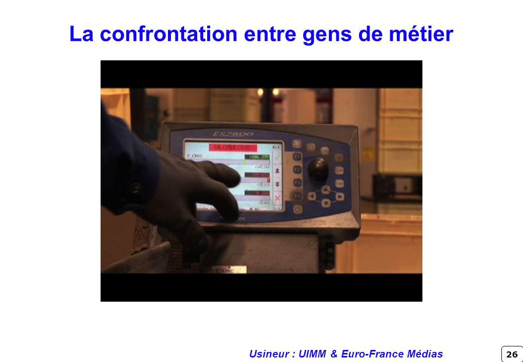 26 Usineur : UIMM & Euro-France Médias La confrontation entre gens de métier