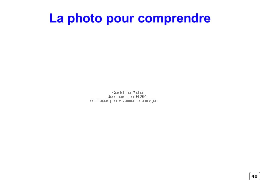 40 La photo pour comprendre