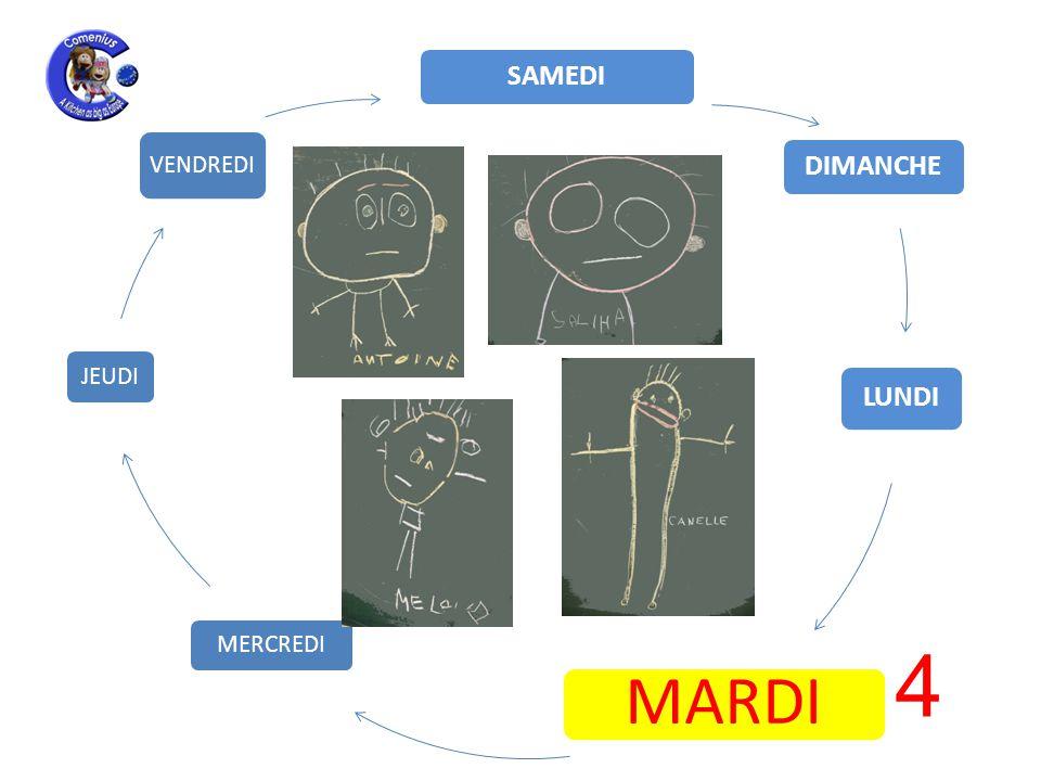 LUNDI MARDI MERCREDI JEUDI VENDREDI SAMEDI DIMANCHE 4