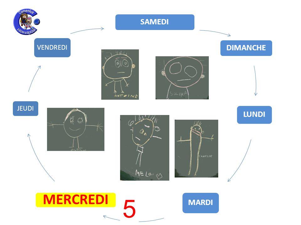 LUNDI MARDI MERCREDI JEUDI VENDREDI SAMEDI DIMANCHE 5