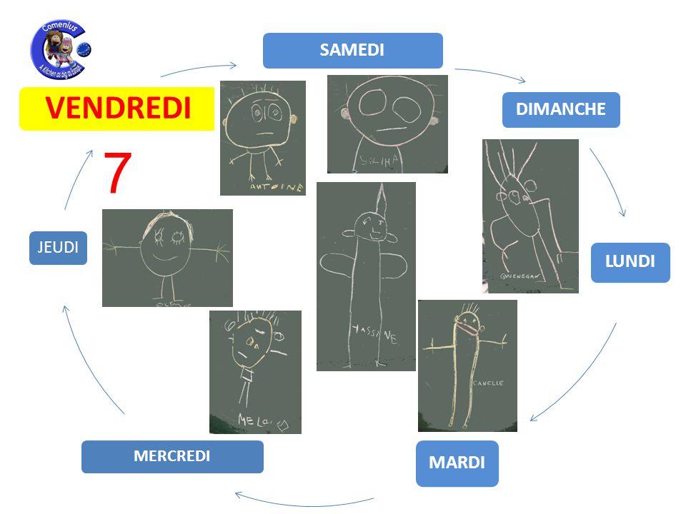 LUNDI MARDI MERCREDI JEUDI VENDREDI SAMEDI DIMANCHE 7