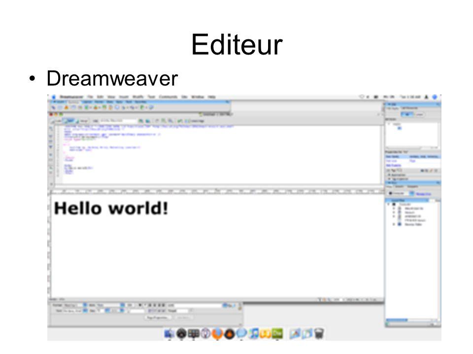 Editeur Dreamweaver
