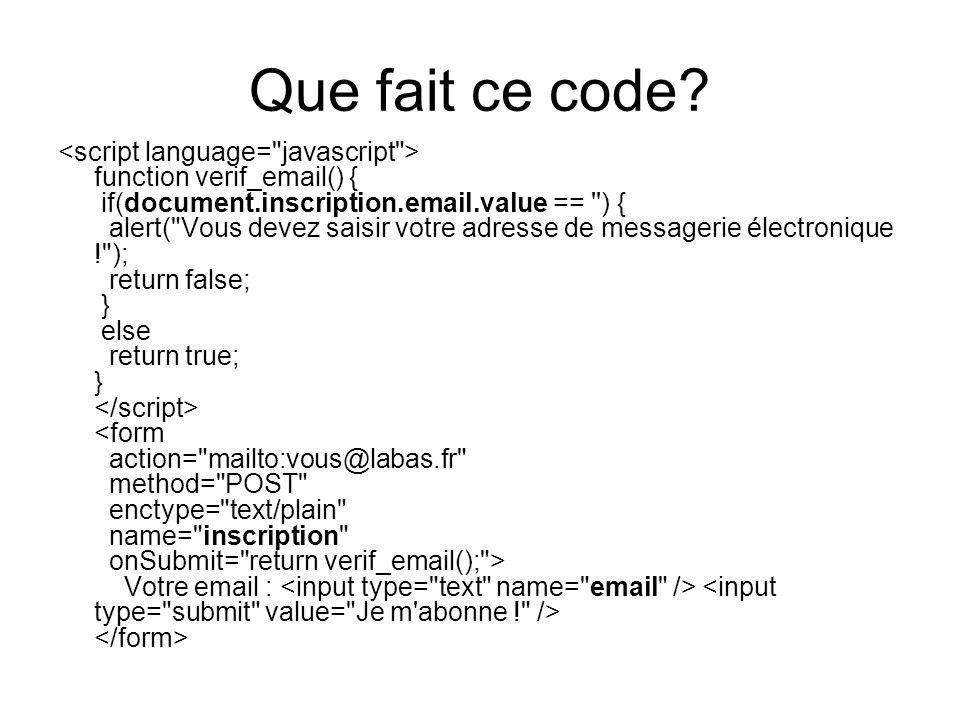 Que fait ce code.