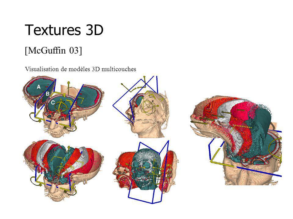 Textures 3D Visualisation de modèles 3D multicouches [McGuffin 03]