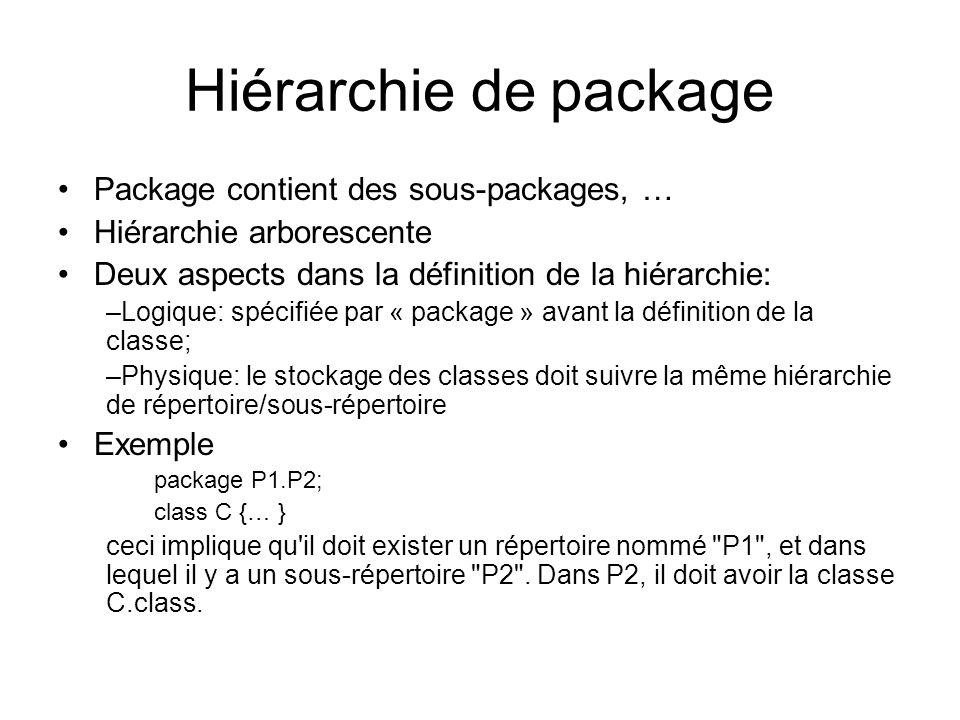 Rendre un package visible au compilateur Quand on compile un programme qui import des packages, il faut que ces packages soient visibles au compilateur.