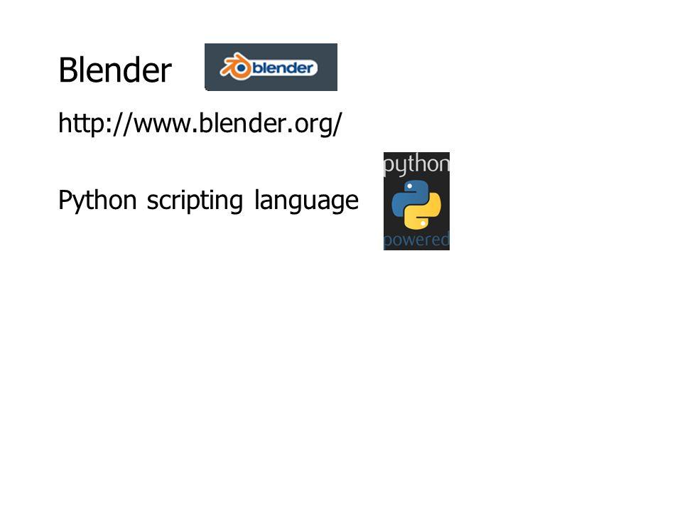 Blender http://www.blender.org/ Python scripting language