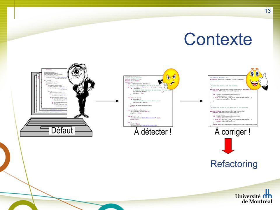 13 Contexte Refactoring